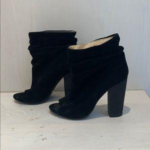 Laurel peep toe black bootie